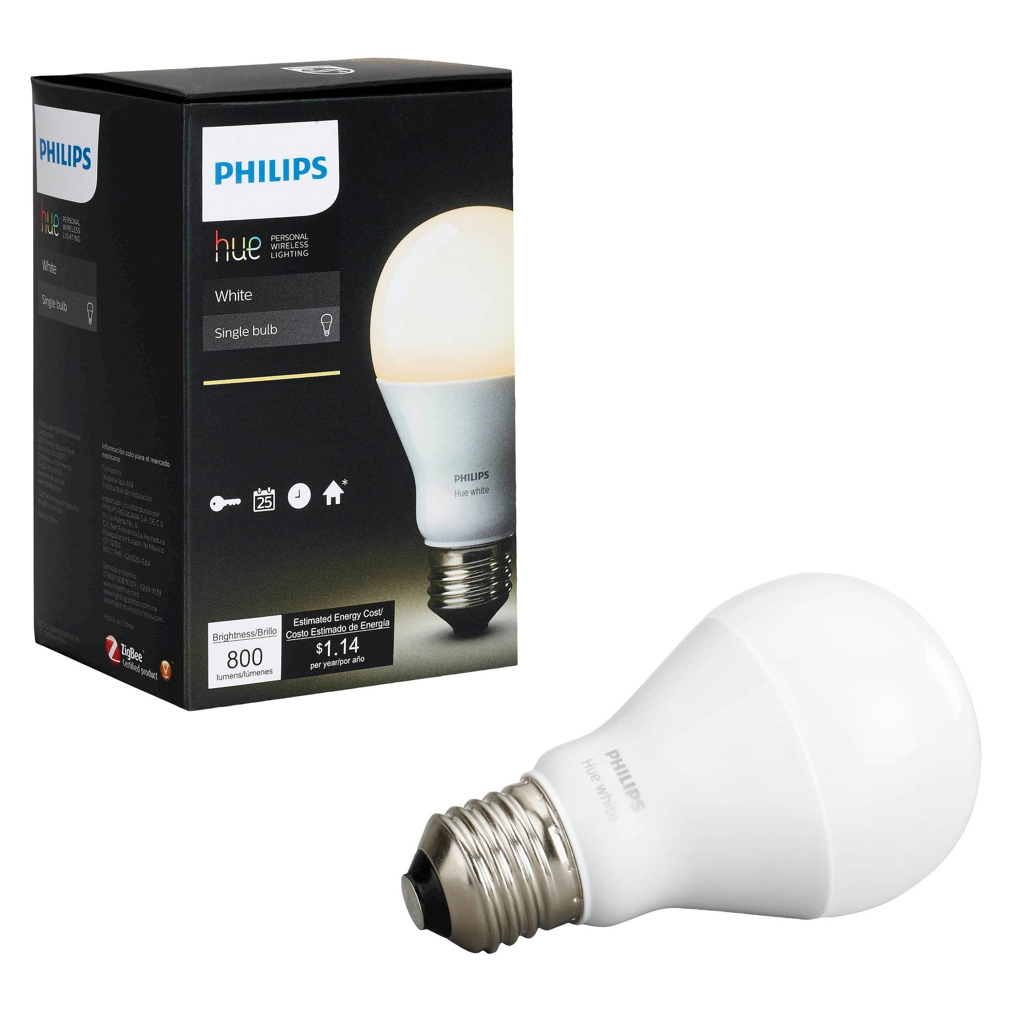 Philips Hue A19 White $7.48 and White & Color Ambiance $24.98 Target Clearance B&M YMMV