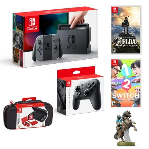 Nintendo Switch Bundle - 2 Games, Switch, Pro Controller, & more $500