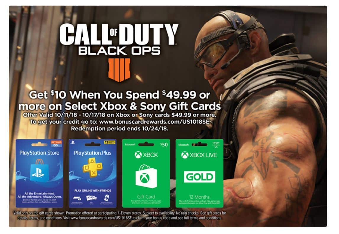 Free 10 Ps Or Xbox Gc With Purchase Of 50 Ps Or Xbox Gc At