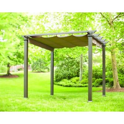 9 1/2 ft. Hampton Bay Steel Pergola $199 (was $499) at Home Depot B&M YMMV