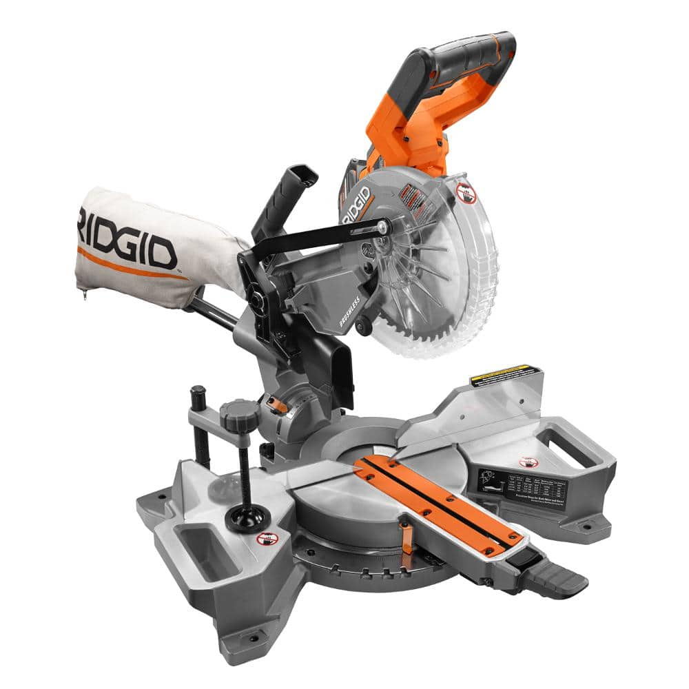 Rigid Brushless Cordless Sliding miter Saw $169 Home depot B&M YMMV