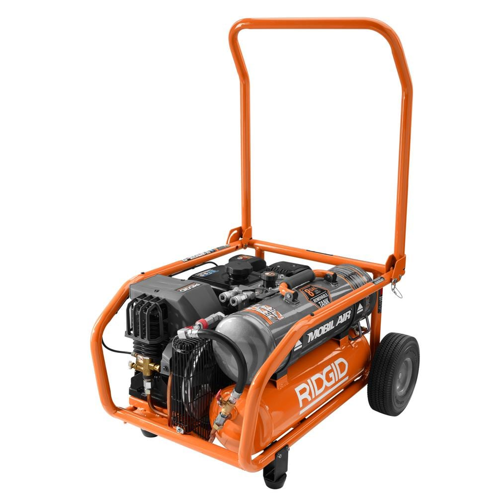 Ridgid Zero Gravity 8 Gal Gas Power Air Compressor Home Depot $510.06 B&M YMMV