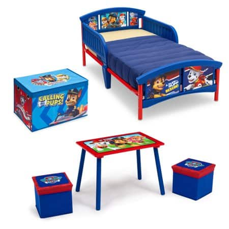 Excellent Nick Jr Paw Patrol 4 Piece Toddler Bed Bedroom Set With Pdpeps Interior Chair Design Pdpepsorg