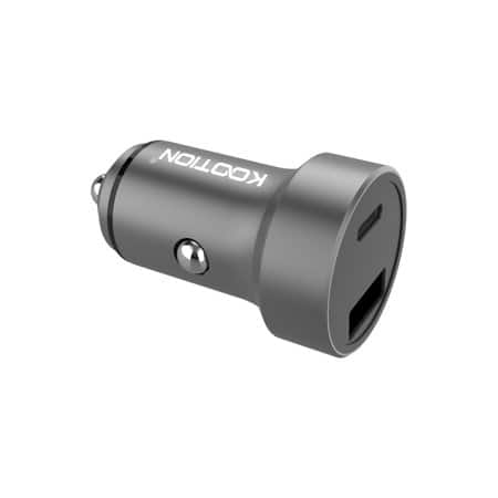 KOOTION USB C Car Charger, Compact USB Type C PD Car Charger Adapter with PD USB-C Port & Quick Charge 3.0 USB Port for $7.99 @Walmart