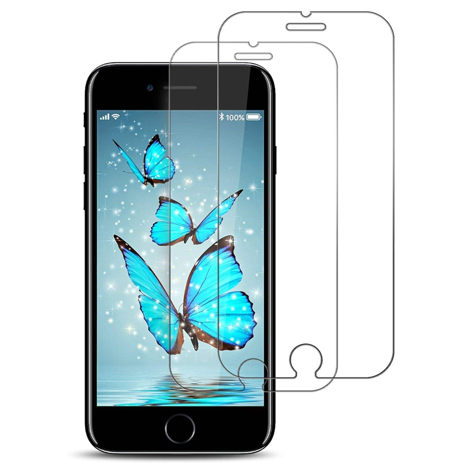 2-Pack Tempered Glass Screen Protector iPhone 8 /7 /6s $2.70 AC + FSSS