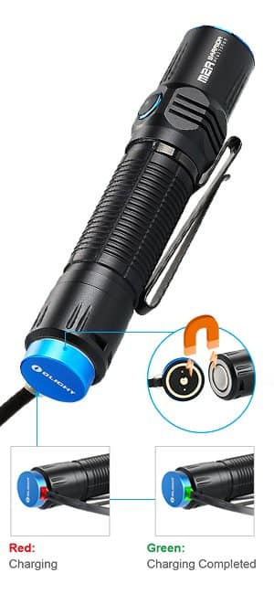 Olight Bundle M2R tactical flashlight CREE LED 1500 lumen $64.97