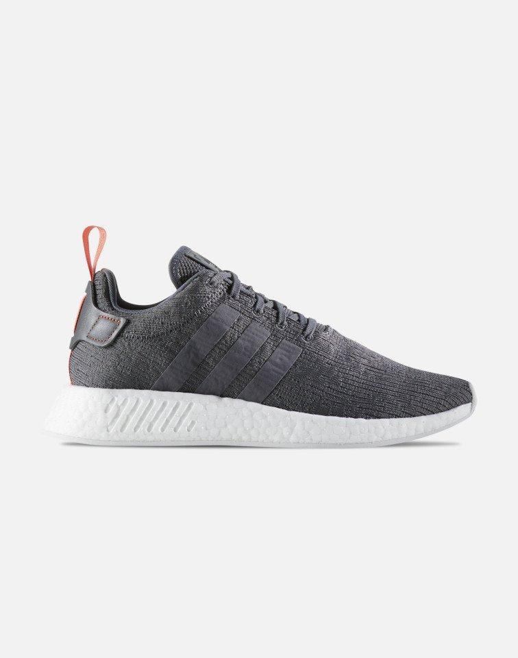 adidas uomini nmd r2 scarpe (grigio o rosso)