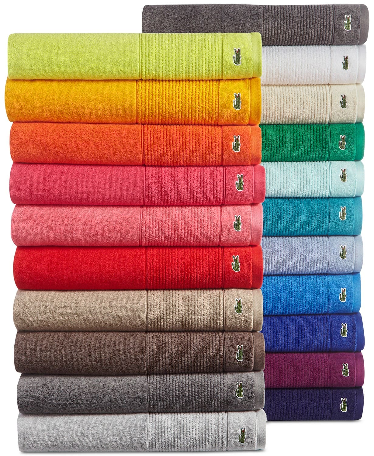 Macy's Lacoste Legend Supima Cotton Bath Towel Collection sale starting $7  only today