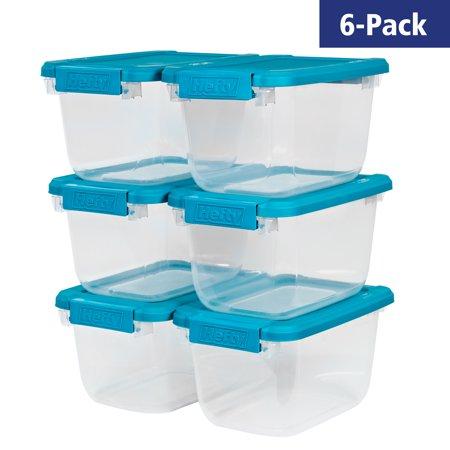 Walmart: Hefty Storage Bins 6.5 Qt. Stackable Bin With Latch, Teal/Clear