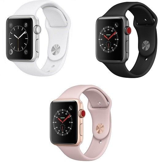 Open Box Apple Watch Series 3 - 38mm - GPS 4G Cellular - Aluminum Case Smart Watch $230