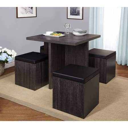 Awesome 5 Piece Baxter Dining Set With Storage Ottoman Multiple Machost Co Dining Chair Design Ideas Machostcouk
