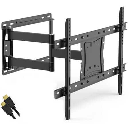 """ONN Full-Motion Articulating, Tilt/Swivel, Universal Wall Mount Kit for 19"""" to 84"""" TVs with HDMI Cable (ONA16TM014E) $39.99"""