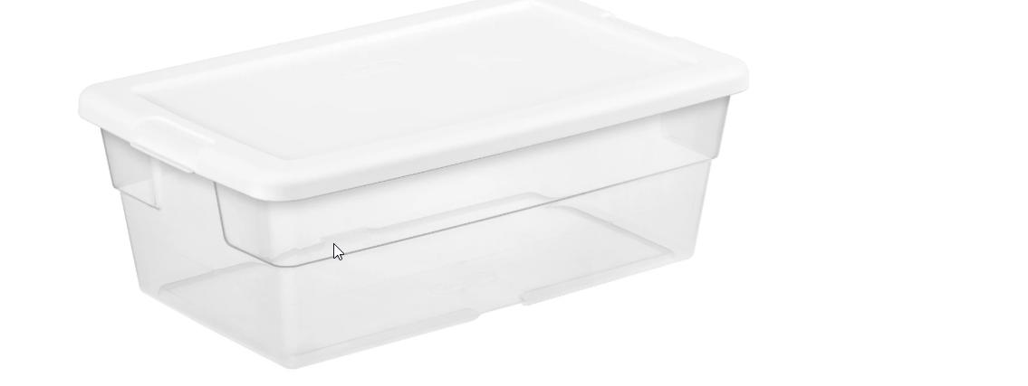 Sterilite 6-Quart Storage Box $1