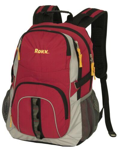 eBay: Rokk Camping/Hiking Backpacks Red/White/Yellow $19.99