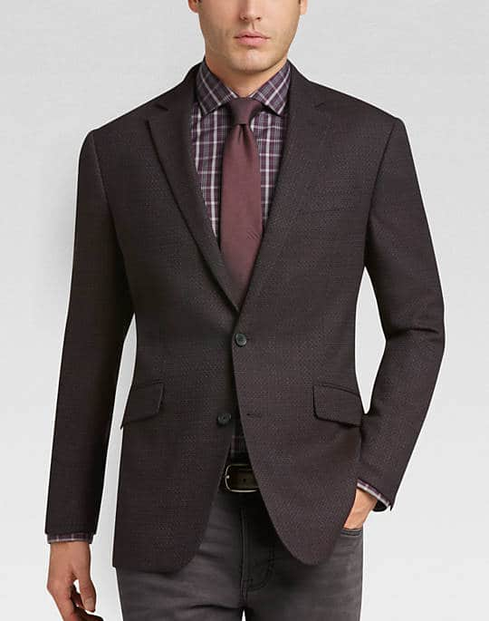 Awearness Kenneth Cole Brown Tic Slim Fit Sport Coat Navy Tic/Brown Tic Colors  $59