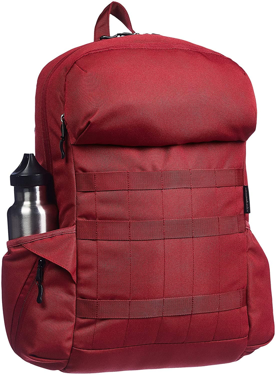 AmazonBasics Canvas Laptop Backpack Bag for up to 15 Inch Laptops - Deep Red $8.75