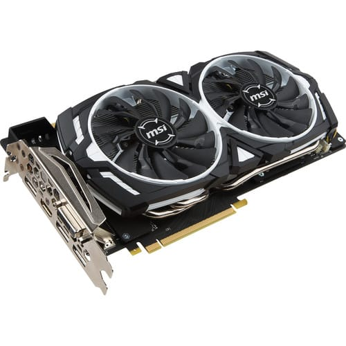 MSI GeForce GTX 1070 ARMOR 8G OC Graphics Card  @ B&H Video - No tax free shipping  + free game 354.99 - less game