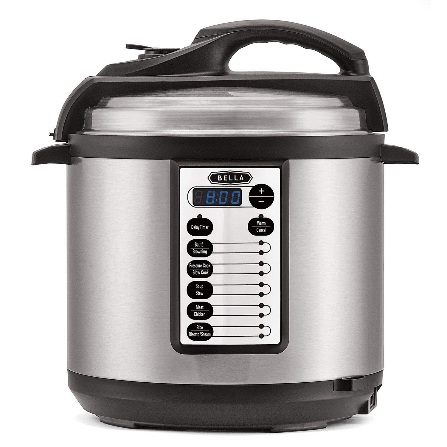 Bella 6-Quart Pressure Cooker - Black/Silver $39.99