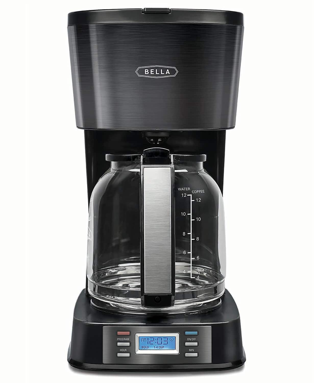 Bella 12-Cup Programmable Coffee Maker $20 + FS @ Macys $19.93