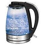 Hamilton Beach 1.7 Liter Illuminated Glass Kettle $26.99 w/ Free shipping