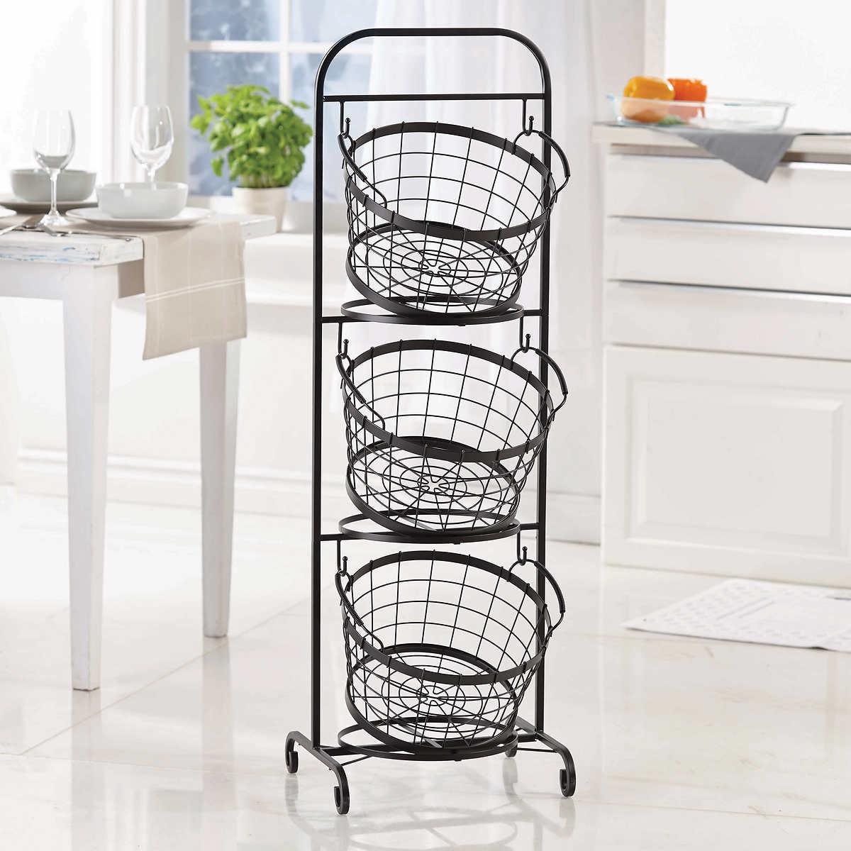 Mesa 3-tier Wrought Iron Market Baskets $24.99 at Costco