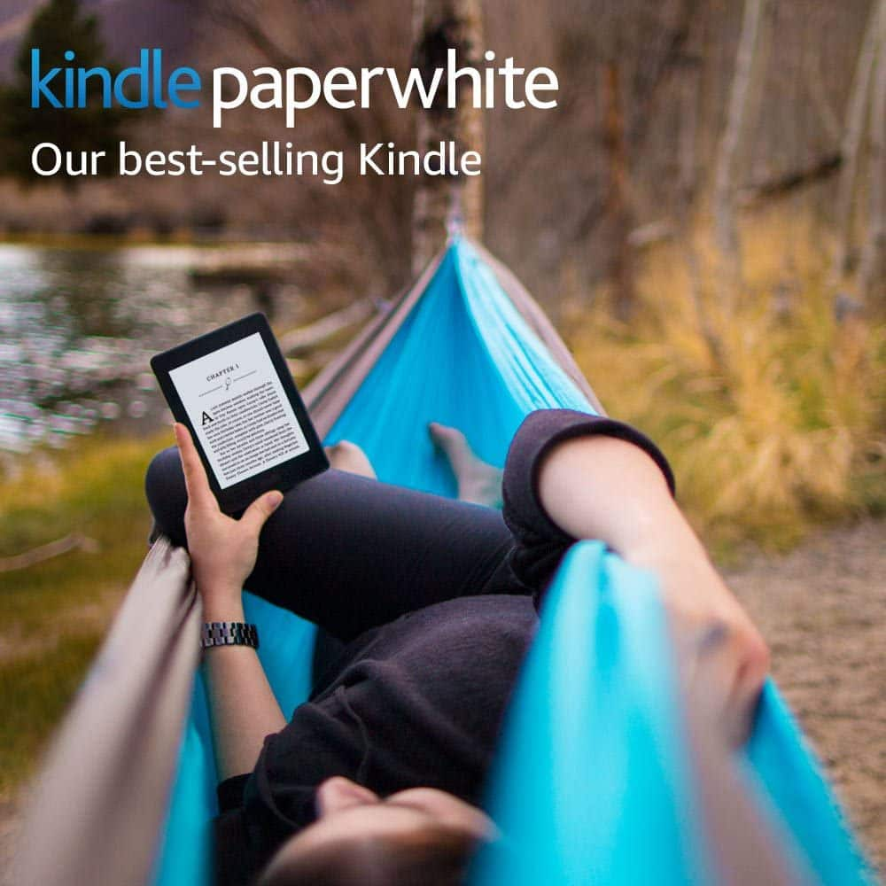 """Amazon.com: Kindle Paperwhite E-reader (7th Gen) - Black, 6"""" High-Resolution Display with Built-in Light, Wi-Fi, and Special Offers - Used, Acceptable $38.35"""