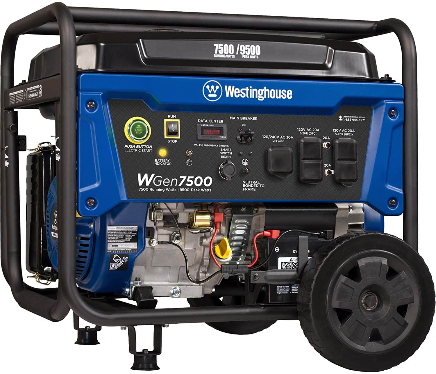 Westinghouse WGen7500 Portable Generator with Remote Electric Start - 7500 Rated Watts & 9500 Peak Watts - Gas Power reg $924.70, now $628.70 free prime shipping
