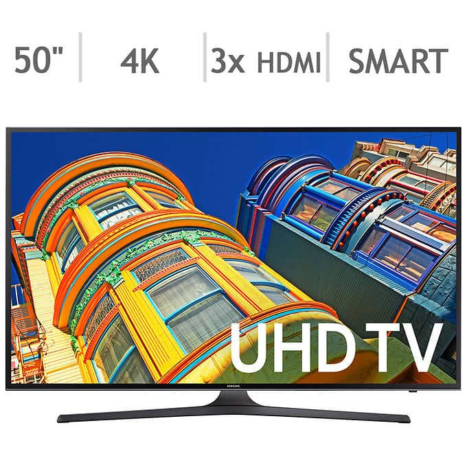 "Samsung 50"" 4K Ultra HD LED LCD TV - UN50KU630DFXZA $450 @ Costco (KU6300)"