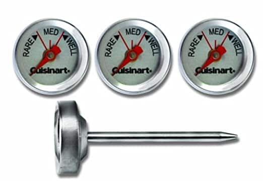 Cuisinart Steak Gauges (4-Set)  Stainless Steel Outdoor Grilling Steak Thermometers $6.85