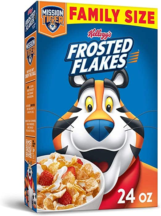 Kellogg's Frosted Flakes Cereal - Sweet Breakfast that Lets Your Great Out, Fat-Free, Family Size, 24 oz Box $2.85