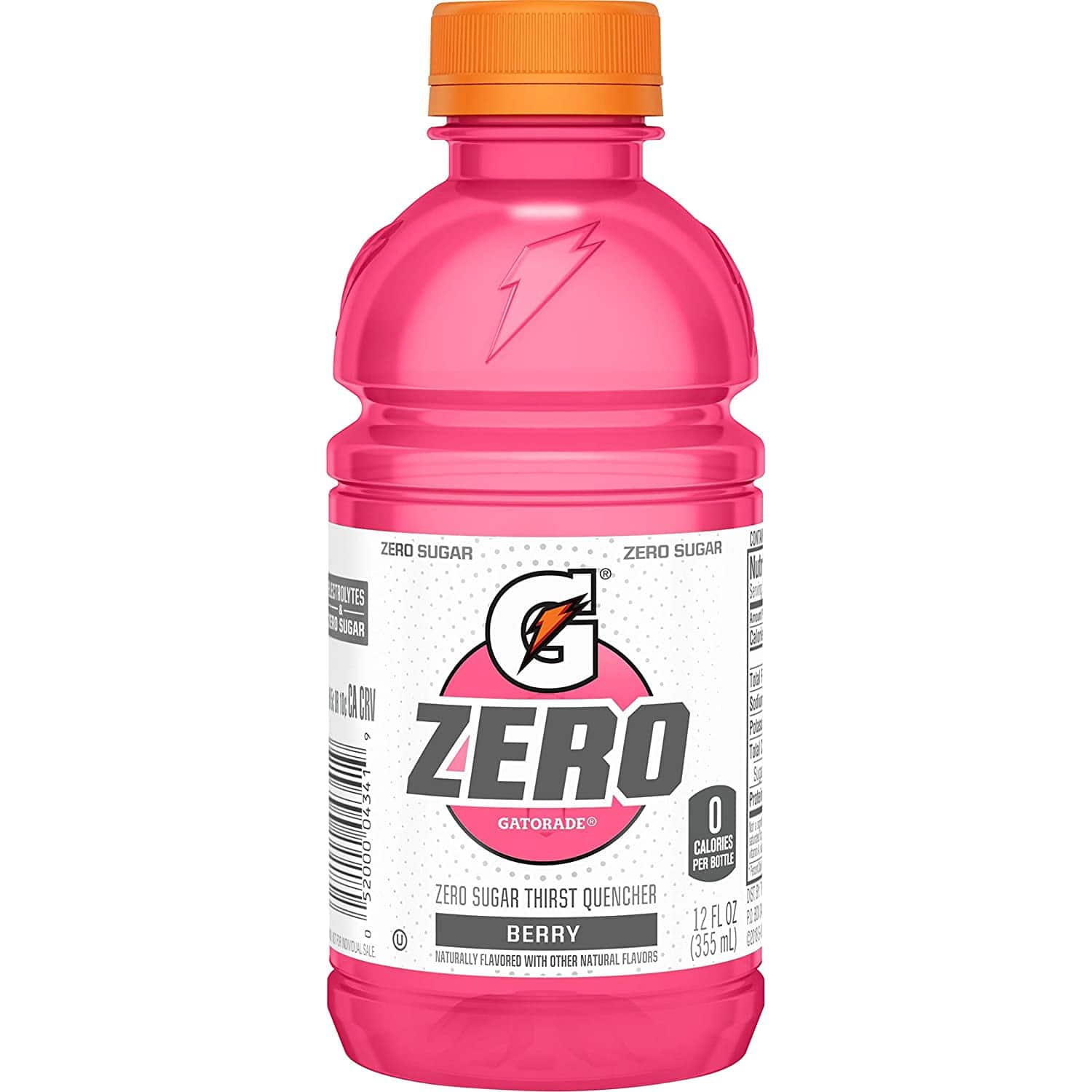 Gatorade Zero Sugar Thirst Quencher- Berry 12 Ounce, 24 Count $7.60