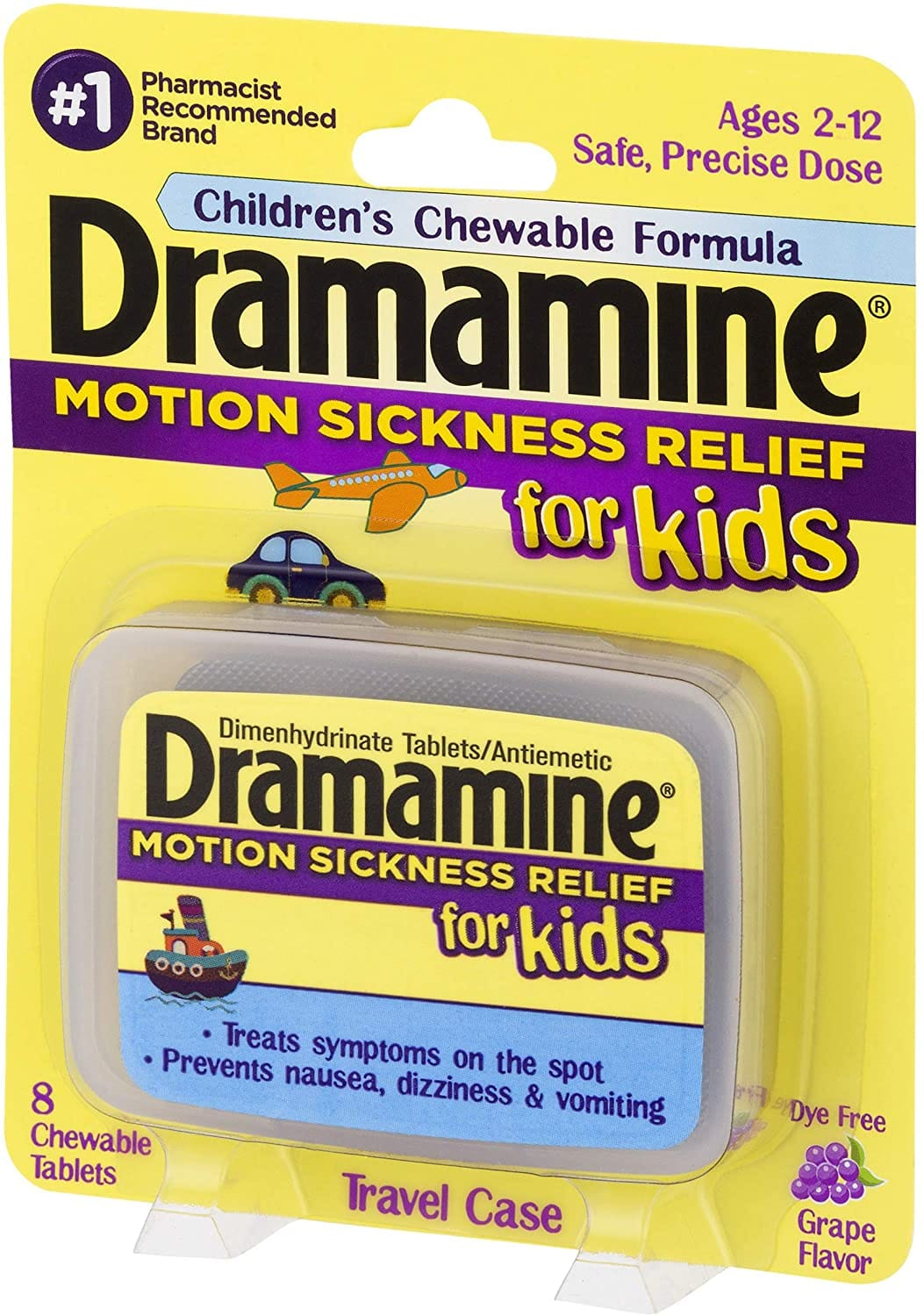 Dramamine Motion Sickness Relief for Kids, 8 Count $2.19