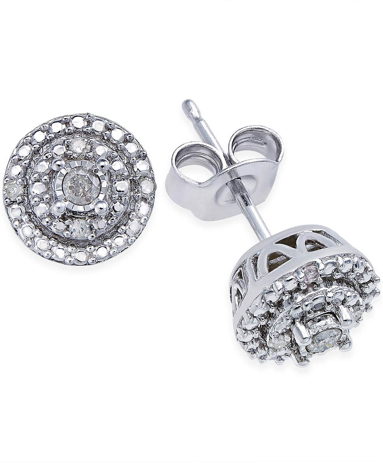 1/10 ct. t.w. Diamond Stud Earrings $200 value for $24.00 $24.99