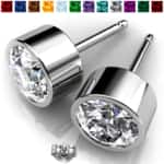 2 Pairs of Genuine Swarovski Elements Stud Earrings for $9.99 (Original price $99) Choose from 12 birthstone colors FREE SHIPPING