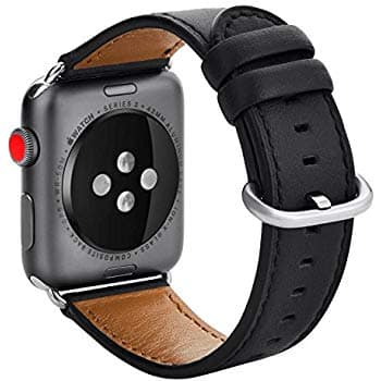Apple watch Band 38mm 42mm Calf Leather Replacement Band for Apple Watch Series 3 Series 2 Series 1 $4.99