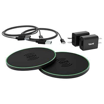 Tzumi HyperCharge 10W Wireless Charger 2-pack QC3.0 Quick/Fast Charge $34.99 @ Costco.com, Free shipping