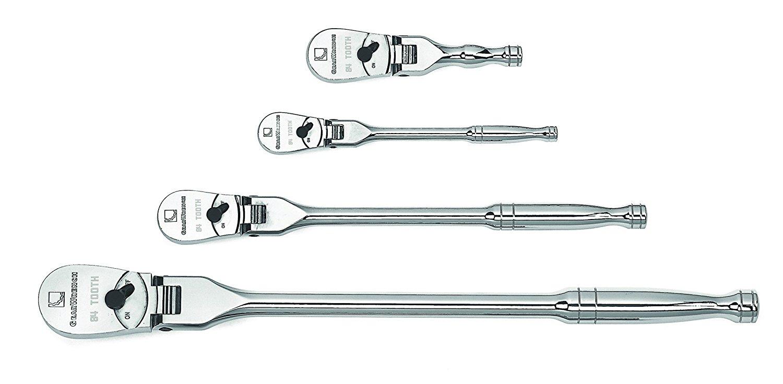 GearWrench 81230P 120XP Full Polish Flex Teardrop Ratchet Set, 4-Piece [81230P] $89.57