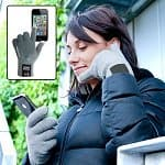 Smart Gloves - Bluetooth Call Receiving Vibrating Gloves with Conductive Texting Finger Tips for $28 Shipped AC