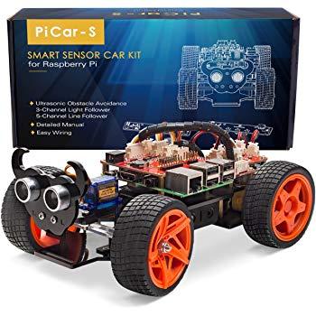 Raspberry Pi Car DIY Robot Kit for Kids & Adults, Visual Programming