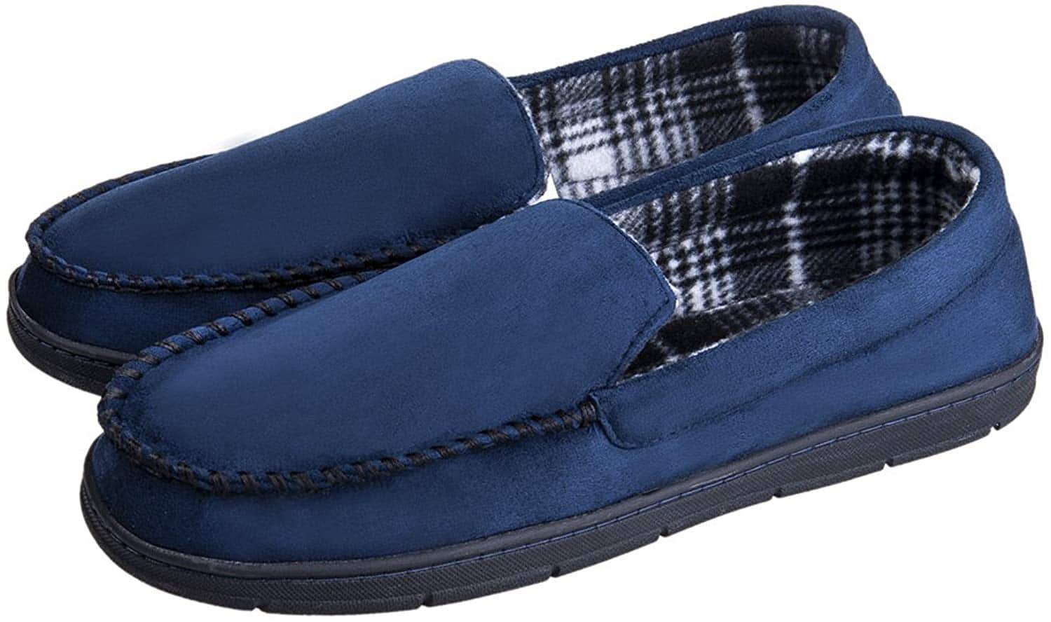 Mens Casual Moccasins Anti Slip Rubber Sole Comfortable Cozy Driving Loafers Indoor Outdoor Slippers $8.99 @ Amazon