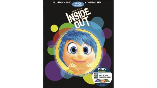 Inside Out (Blu-ray/DVD) (Digital Copy) (Only @ Best Buy) (5 Collectible Character Cards) - Now only store pick - $9.99