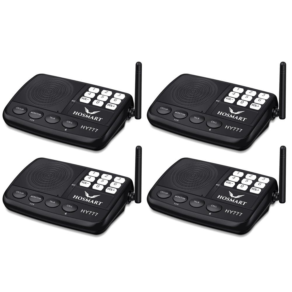Wireless Intercom System for Home or Office (New Version) [4 Stations Black] $52.99 @ Amazon
