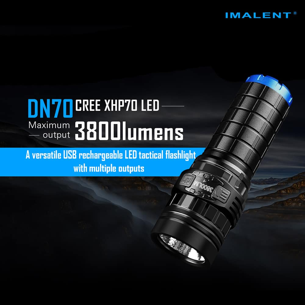 IMALENT DN70 3,800 Lumens USB Rechargeable (World's Brightest Single Cell Flashlight) $45.99
