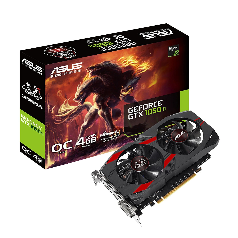 ASUS / Zotac NVIDIA GeForce GTX 1050 Ti 4GB 128-Bit GDDR5 Desktop Video Graphics Card, Dual Fan, 1050ti - $179.99 AC + F/S