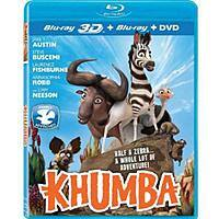 Walmart Deal: Khumba (3D Blu-ray + Blu-ray + DVD) (Widescreen) $7.88 Walmart