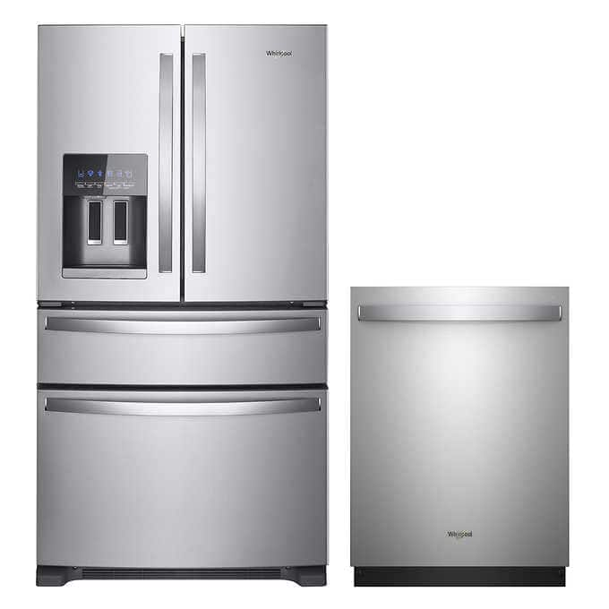 Whirlpool 25 cu ft Refrigerator and Dishwasher- $1999.99