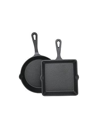 Sedona Cast Iron 2-Pc. Mini Skillet & Griddle Set  & Reviews - Cookware - Kitchen - Macy's $12.74