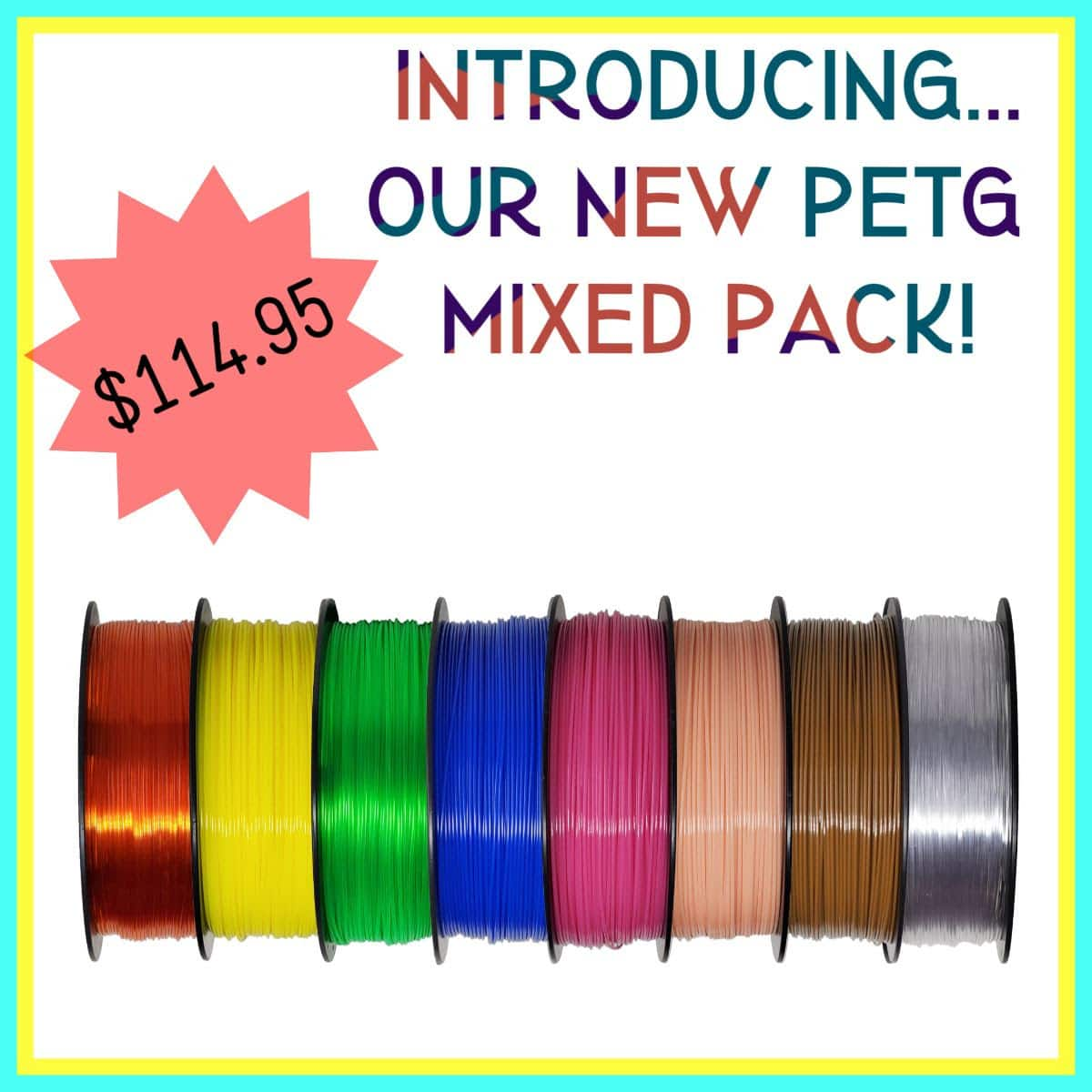 Zyltech 3d printer Filament 20% off coupon and new PETG mixpack bundles $114.95