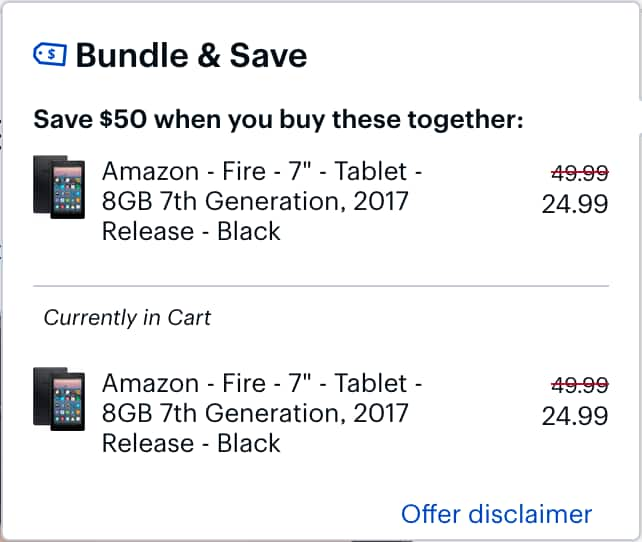 Amazon Fire 7 Tablets at Best Buy are BOGO $49.98