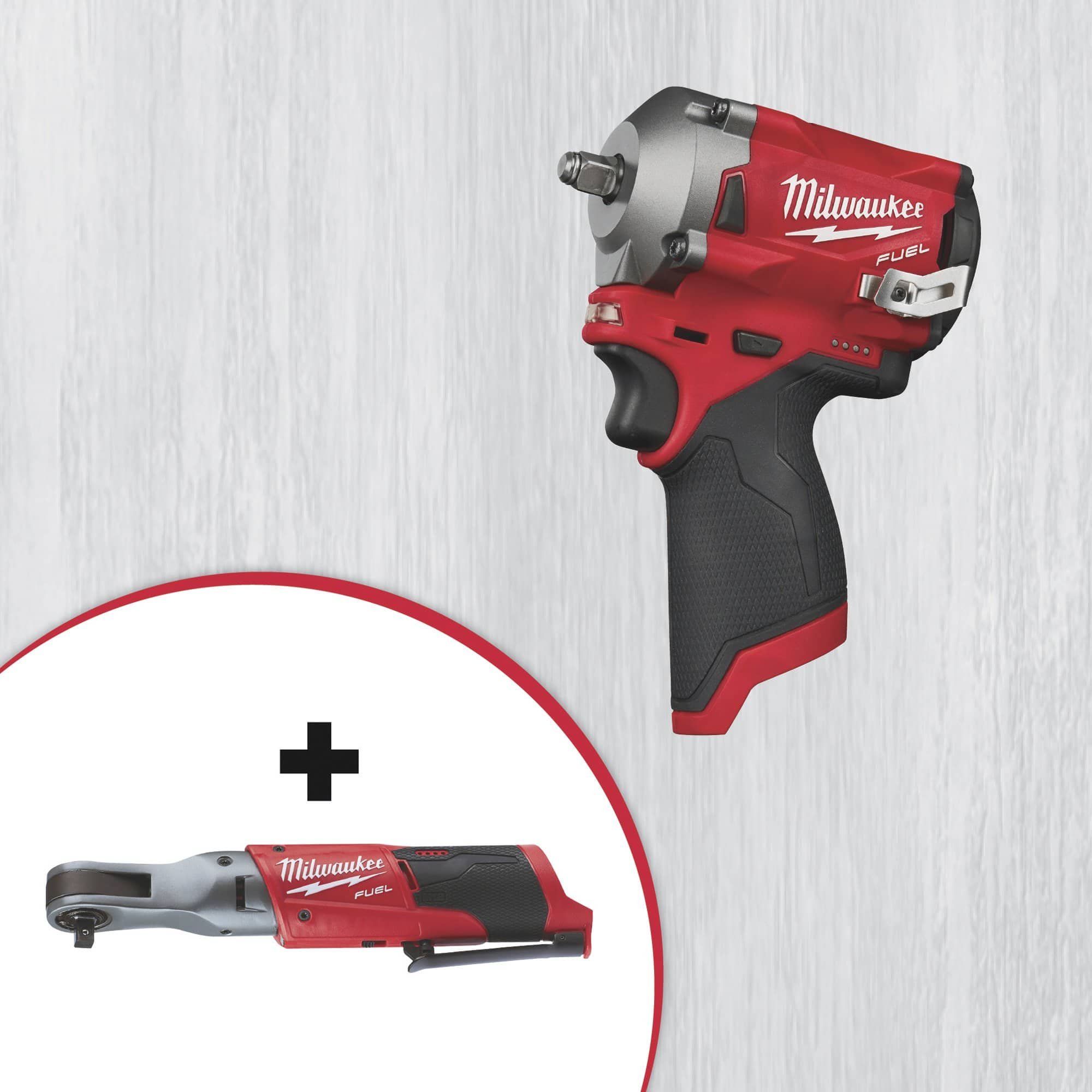 Milwaukee M12 Stubby 3/8 impact wrench & M12 Fuel 3/8 Ratchet for $259 at Northern tool